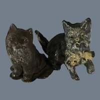 Fat Cats~ from Germany~ Metal Dollhouse~ pair!