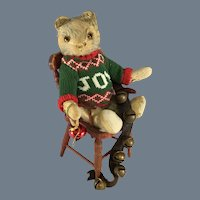 "Teddy Bear~ Mohair & Excelsior ~ Glass eyes, Big Smile~  12 ""~ Charming"
