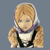Ethnic Swiss Cloth Doll~ Swiss Miss~ Beautiful~ Charity Doll or WPA