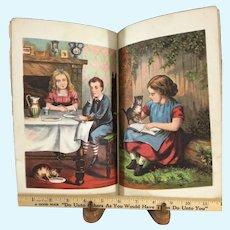 c. 1880 McLoughlin Nursery Play Book~ Beautiful color plates~