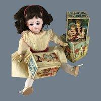 Litho on Wood  ~ Toy~ Alphabet blocks ~ Great Graphics!