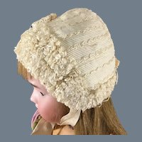 Doll Bonnet~ Silk and Frills~ Lovely antique