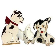 Wood Doorstops~ 3 Dogs~ Charming VinTage-