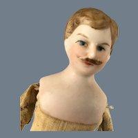 German Gent Dollhouse Man~ Mustache , Overalls & Boots!