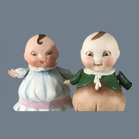 HappiFats Couple~ All Bisque Darlings Dated 1924