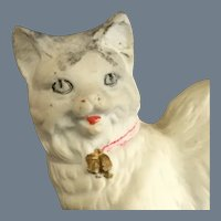 Cat~ All Bisque ~ large w gold tassels~ Doll Companion