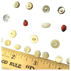 Tiny Antique Buttons~  for dresses, shoes and hats!