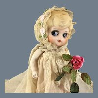 All Bisque Googly Bride Doll~ Made in Japan