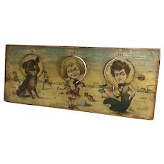 Litho on Wood~ Bliss ~Buster Brown Target Game circa 1910