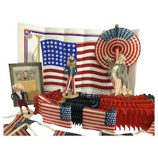July 4th Collection Vintage Novelty Decorations ask $98