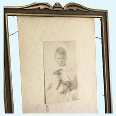 Schoenhut Toy w Boy ~Real Photo~ circa 1920