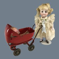 Cherry Red Enameled~ Doll's Buggy~  Wynadotte ~ Beautiful condition