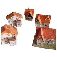 Handmade German Cottages  ~ Putz Houses~ Antique Village
