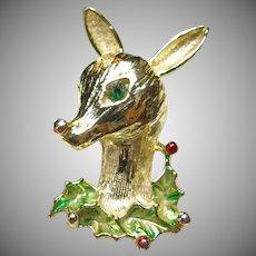 Art Reindeer Pin