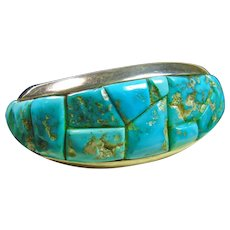 Sterling Silver Morenci Turquoise Cuff Bracelet