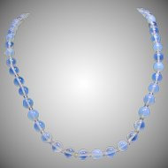 Opalescent Glass Bead Necklace