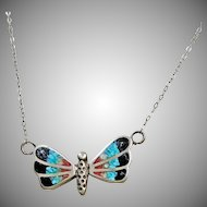 Sterling Silver Necklace with Eagle Shaped Pendant