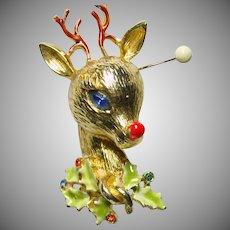 ART Rudolph Reindeer Pin