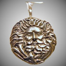Green man Sterling Silver Charm/Pendant