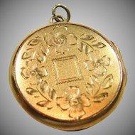 Round Gold Filled Locket
