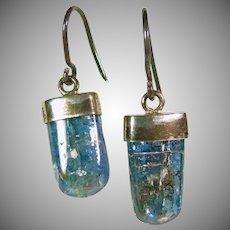 Sterling Silver and Kyanite Earrings
