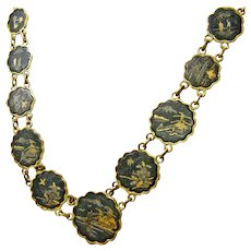 Japanese Damascene Jewelry Set
