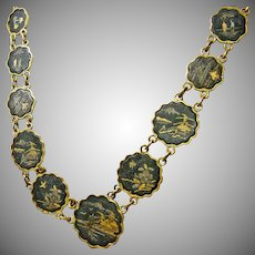 Japanese Damascene Jewelry Set