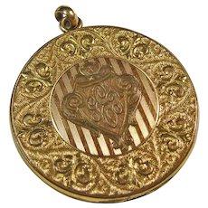 Vintage Gold Over Brass Locket