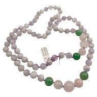 Endless Necklace of Amethyst, Rose Quartz and Aventurine
