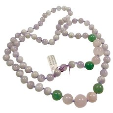 Endless Necklace of Amethyst, Rose Quartz and Aventurine