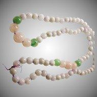 Rose Quartz,  Aventurine and Amethyst Bead Necklace
