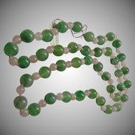Aventurine and Rose Quartz Endless Necklace