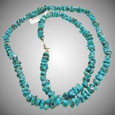 Kingman Turquoise Nugget Necklace