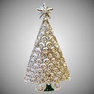 White on White Christmas Tree Pin
