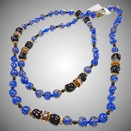 1970's Venetian Glass Bead Necklace