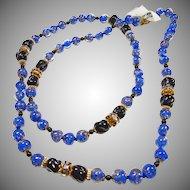 1970's Venetian Glass Bead Necklace