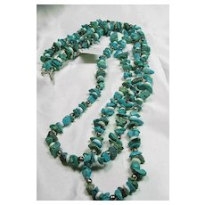 Double Strand Multicolor Turquoise Bead Necklace