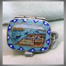 1920s Enamelled Charm of Moses in the Basket