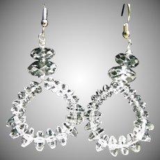 Tipple A Natural Rock Crystal Hoop Earrings
