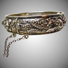 Silver Harvest Bangle Bracelet