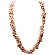Stacked Red Shell Necklace