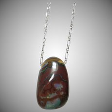 Boulder Opal Pendant on Sterling Silver Chain