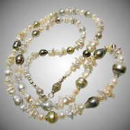 30 Inch Necklace of Freshwater Pearls