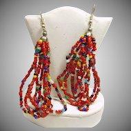 Southwestern Multiple Color Bead Earrings