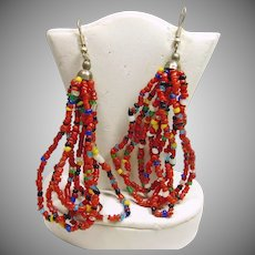 Southwestern Multiple Color Bead Earrings