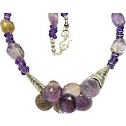 Ametrine and Amethyst Bead Necklace