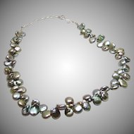 Peacock Baroque Freshwater Pearl Necklace