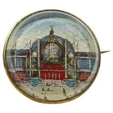 Victorian Pin Depicting Crystal Palace at London's 1851 World Fair