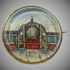 Victorian Pin Depicting Crystal Palace at London's 1851 World Fair