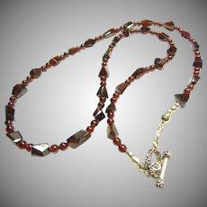 Brilliant Red Garnet Necklace
